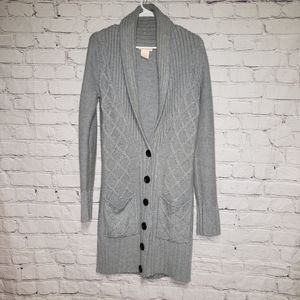 Sweet Romeo Long Knit Button Down Cardigan